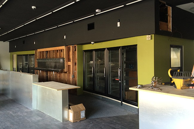 Inside the forthcoming Craft Kitchen (Photo by Jen Van Tieghem)