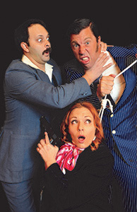 "The cast of ""Murder at the Howard Johnson's"" (Courtesy Lamplighters Community Theatre)"