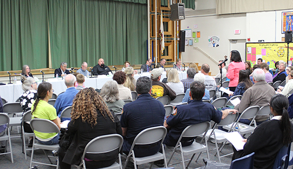 City leaders gathered community feedback at town hall meetings in February. (Photo by Jeremy Ogul)