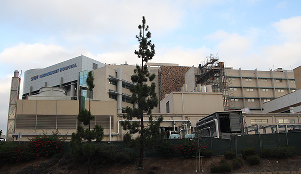 Construction continues on Sharp Grossmont Hospital's new Heart and Vascular Center. (Photo by Jeff Clemetson)