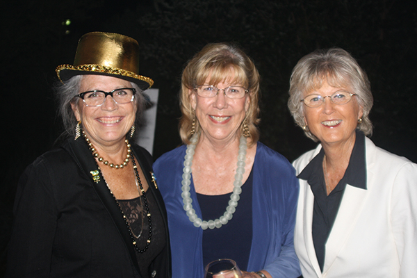 Gala committee members Irene McCormack (left) and Donna Hendrix (center) pose with San Diego County Supervisor Dianne Jacobs.