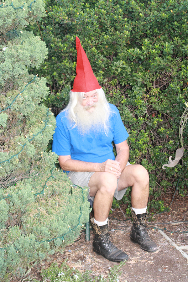 This live garden gnome greeted guests as they made their way to the silent auction and dinner tables.