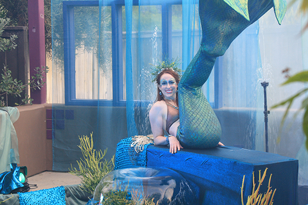 The Enchanted Garden Gala included this mermaid posing in an underwater-themed setting. (Photo by Jeff Clemetson)