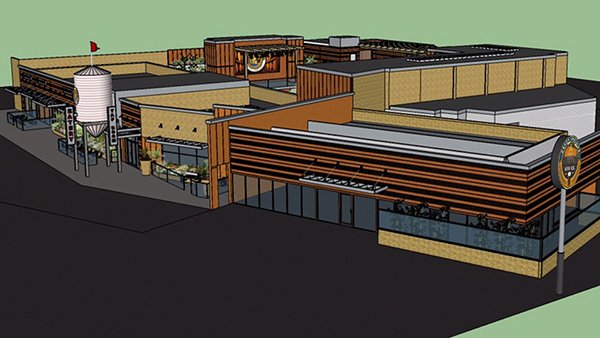 An artist rendering of the future Depot Springs brewery on Fletcher Parkway (Courtesy of Depot Spring Beer Co. Facebook page)