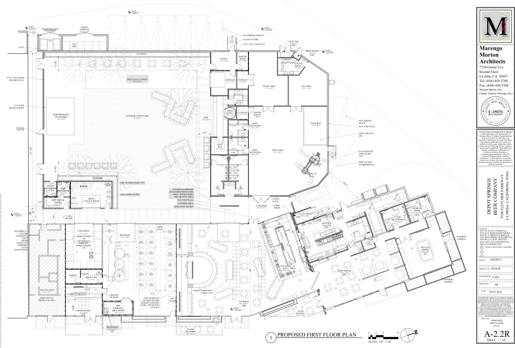 Floor plans from the final design of Depot Springs