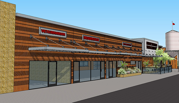 A conceptual drawing of the Depot Springs brewery (Courtesy of Depot Springs)