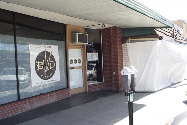 Neighboring restaurants Boulevard Noodles and Fourpenny House are both currently under construction and set to open soon. (Photo by Jeff Clemetson)