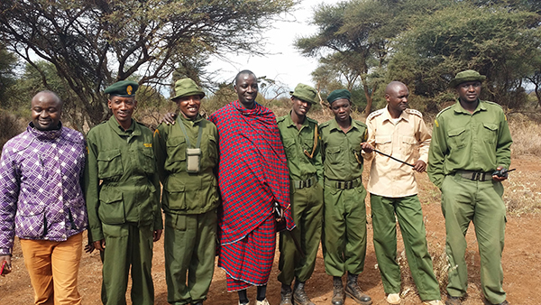 Conservationists and game scouts at Amboseli National Park (Courtesy of Yuchiao Wu-Walden)